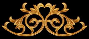 Ornamentów elementy, roczników złociści kwieciści projekty Zdjęcia Royalty Free