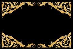 Ornamentów elementy, roczników złociści kwieciści projekty Zdjęcia Stock