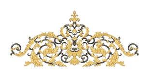 Ornamentów elementy, roczników złociści kwieciści projekty Zdjęcie Stock