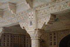 Ornamentów szczegóły Musamman Burj w Czerwonym Agra forcie Agra, Uttar Zdjęcie Royalty Free