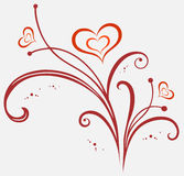 ornamentów valentines Obrazy Royalty Free