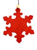 Ornament 1 van Kerstmis van de sneeuwvlok Royalty-vrije Stock Afbeeldingen