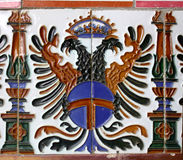 Ornament. Fragment of an old ornament. Spain. Seville Royalty Free Stock Photos