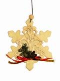 Ornament 2 van Kerstmis van de sneeuwvlok Royalty-vrije Stock Afbeelding