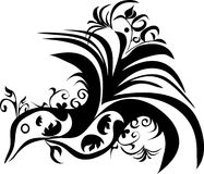 Ornament. Black and white design ornament Royalty Free Stock Photos