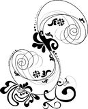 Ornament. Black and white design ornament Royalty Free Stock Image