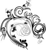 Ornament. Design black and white ornament royalty free illustration