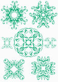 Ornament. Original pattern.Set flowers for the aid to the designer Stock Image