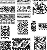 Ornament. Vector vegetative and geometrical ornament on a white background Royalty Free Stock Photo