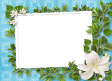Ornament abstract background  with bouquet Royalty Free Stock Photography