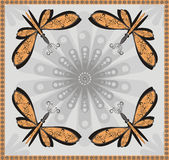 Ornament and abstract  butterfly. Stock Photo