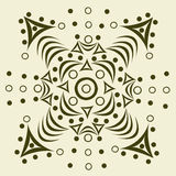 Ornament abstract pattern. Drawn abstract ornament pattern - vector illustration Stock Photo
