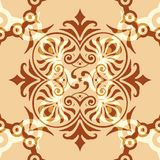 Ornament Abstract Pattern Seamless With Brown Background. And Vintage Style Stock Photos
