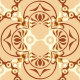 Ornament Abstract Pattern Seamless With Coffe Color. And Brown Color Stock Photography