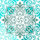 Blue Ornament Abstract Pattern Seamless. Ornament Abstract Pattern Seamless With Warm Color Royalty Free Stock Photo