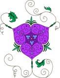 Ornament in Arabic style. grape branch vector illustration