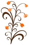 Ornament with autumn flowers Stock Image