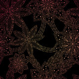 Ornament background with flowers , pattern Stock Photography