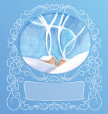 Ornament background of peek a boo card Royalty Free Stock Images