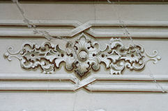 Ornament baroque detail wall Royalty Free Stock Images