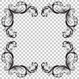Ornament in baroque style. Royalty Free Stock Images