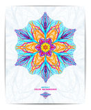 Ornament beautiful background with mandala. Perfect cards for your design. Vector illustration, EPS10 Stock Image