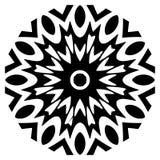 Vector Indian Mandala. Motif, invitation. Ornament beautiful card with mandala. Geometric circle element made in vector stock illustration
