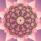 Ornament beautiful  mandala chakra flower of pink Royalty Free Stock Photography