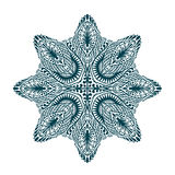 Ornament beautiful mandala. Geometric circle element. Vector illustration Royalty Free Stock Photography