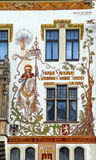 Ornament on beautiful old building, Prague Stock Images