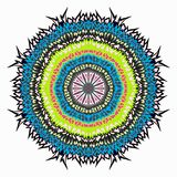 Ornament beautiful pattern with mandala vector illustration Royalty Free Stock Images