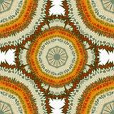 Ornament beautiful pattern with mandala vector illustration Royalty Free Stock Photos