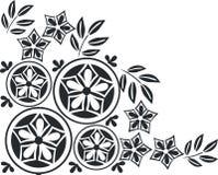 Ornament in black 05. Vector. Ornament flower black 05 stock illustration
