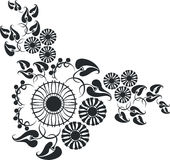 Ornament in black 10. Ornament flower in color 10 royalty free illustration