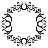 Ornament black  70. Ornament circle in black  70 Royalty Free Stock Photos