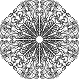 Ornament black mandala. Stock Photo