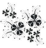 Ornament  in black 06. Vector. Ornament flower black 06 Stock Photos
