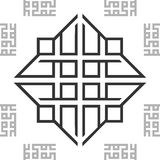 Ornament Black and White BW Oriental Arabic Seamless Pattern Tile Texture Background. Vector. vector illustration