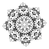Ornament black white card with mandala. Geometric circle element. Perfect cards for any other kind of design, birthday and other holiday Royalty Free Stock Photos