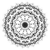 Ornament black white card with mandala. Geometric circle element. Perfect cards for any other kind of design, birthday and other holiday Royalty Free Stock Photography