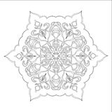 Ornament black white card with mandala. Stock Images