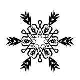 Ornament black white card with mandala Royalty Free Stock Images