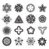 Ornament black and white  line art design set Royalty Free Stock Image
