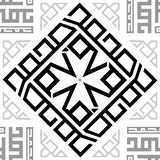 Ornament Black and White Repetitive Seamless Pattern Tile Texture Transparent Background. vector illustration
