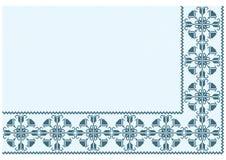 Ornament blauw pixel Royalty-vrije Stock Afbeeldingen