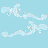 Ornament blue clouds. Royalty Free Stock Images