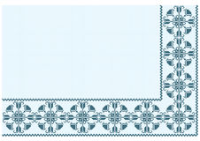 Ornament blue pixel Royalty Free Stock Images