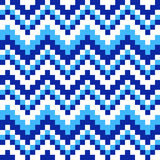 Ornament blue and white squares. Seamless pattern cubic blue, white and squares royalty free illustration