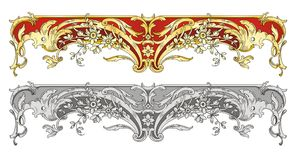 Ornament border Stock Photo