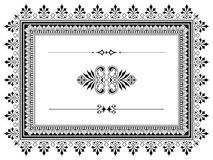 Ornament border design elements with dividers Stock Image
